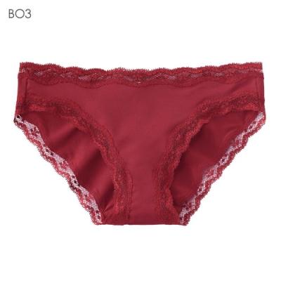 aimerfeel 淑女素面蕾絲無痕內褲-玫瑰色-956021-BO3