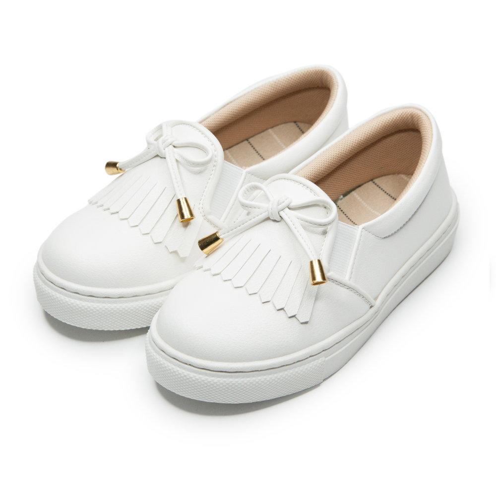 BuyGlasses 韓系質感懶人鞋-白