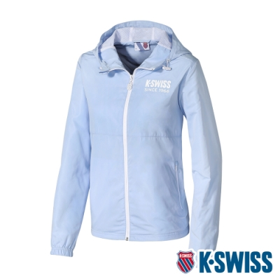 K-SWISS Color Zip Jacket防風外套-女-天藍