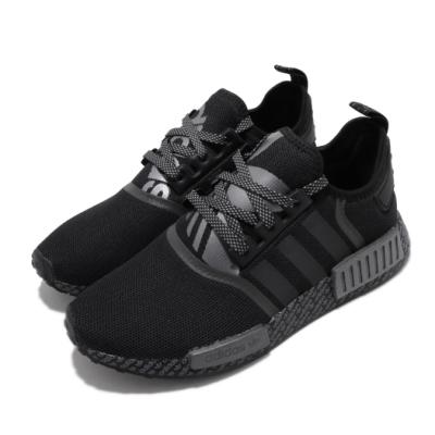 adidas 休閒鞋 NMD R1 襪套式 穿搭 男鞋 海外限定 愛迪達 三葉草 Boost 反光 黑灰 FV6989
