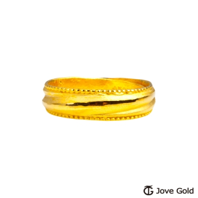 Jove Gold 漾金飾 一生一世黃金男戒指