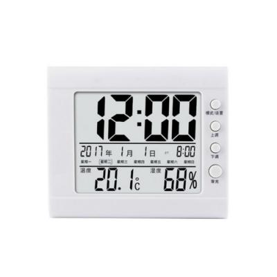 【LOTUS】多功能電子溫濕度計 日曆時鐘鬧鐘溫溼度計