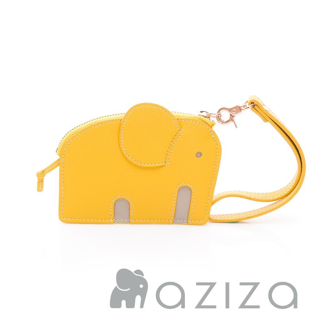 aziza小象造型鑰匙零錢包 黃