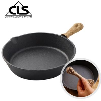 韓國CLS 鑄鐵平底鍋贈隔熱編織繩(20cm) 鑄鐵鍋 鑄鐵盤 鑄鐵烤盤 牛排盤 荷蘭鍋 露營 野餐 野炊
