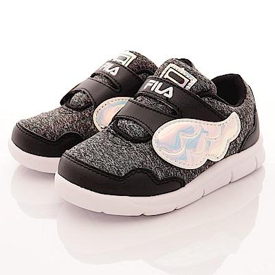 零碼-19cm FILA頂級童鞋 超輕量運動款 852R-041黑