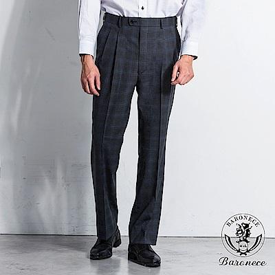 BARONECE 舒適簡約格紋西褲(518113-04)