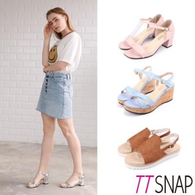 [時時樂限定]TTSNAP涼鞋-夏日百搭厚底涼鞋限時搶購三款任選