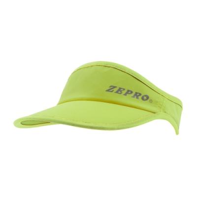【ZEPRO】魔鬼氈慢跑中空Velcro遮陽帽-芥末綠