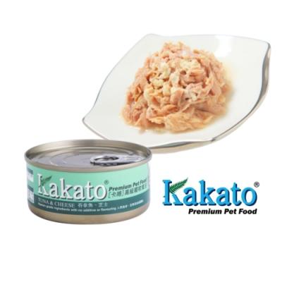 Kakato 卡格餐食罐 (鮪魚、起司)70g 鮮食 貓狗共食  貓罐 狗罐 天然罐 挑食