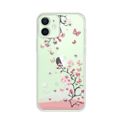 apbs iPhone 12 mini 5.4吋施華彩鑽防震雙料手機殼-日本櫻