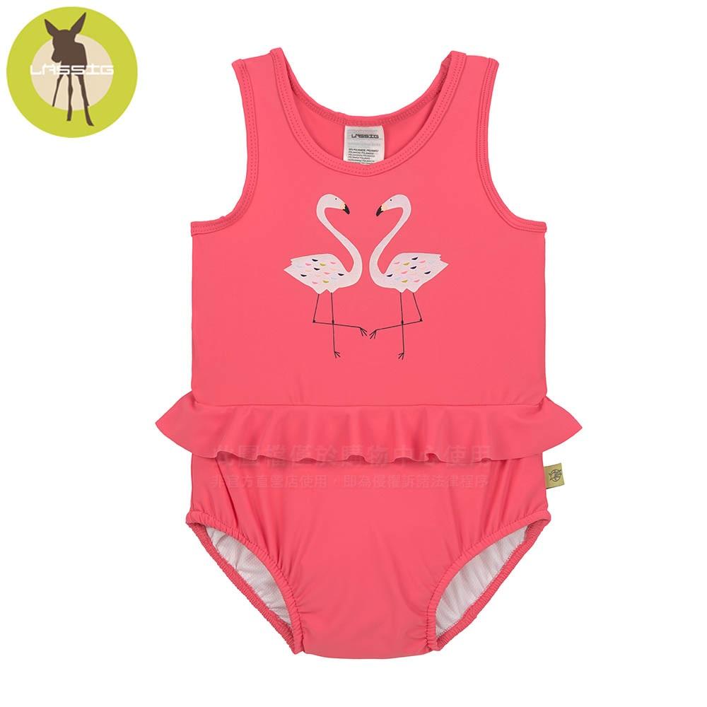 德國Lassig-嬰幼兒抗UV連身式泳裝-火紅鶴