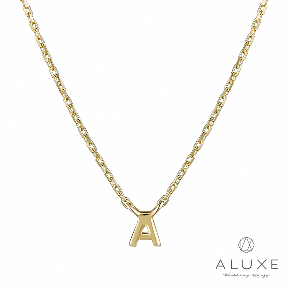 A-LUXE 亞立詩 Alphabet系列 10K項鍊-A