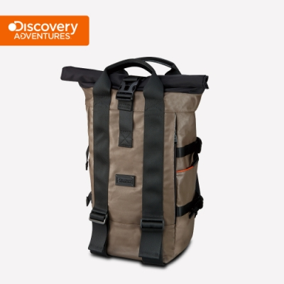【Discovery Adventures】City捲蓋式後背包-卡其色