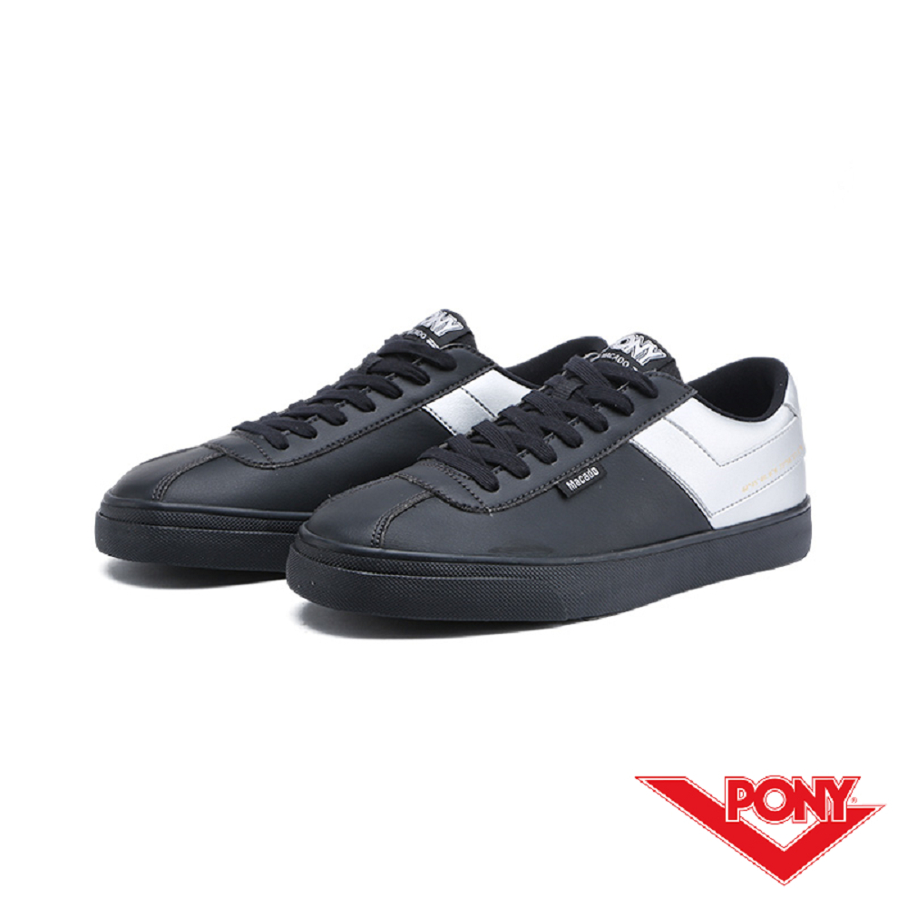 【PONY】Macado系列-經典復古休閒鞋-男-黑