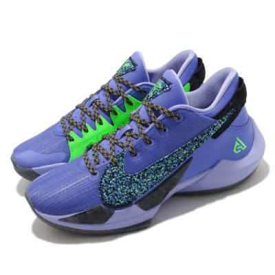 Nike 籃球鞋 Zoom Freak 2 EP 男鞋 明星款 字母哥 避震 包覆 運動 球鞋 紫 綠 CK5825500