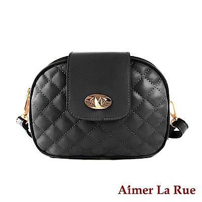 Aimer La Rue 側背斜背包 芙曼格菱格紋多層側背包(二色)