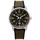 SEIKO 率性時尚橡膠與帆布帶材質錶帶手錶(SUR323P1)-綠面X銀灰框40mm product thumbnail 1