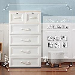 IDEA 歐式浮雕收納櫃