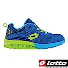 LOTTO 義大利 大童 KPU氣墊跑鞋(藍)