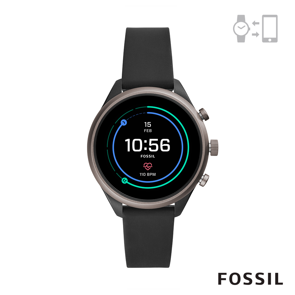 FOSSIL SPORT 運動智能錶-41MM 黑色矽膠 FTW6024