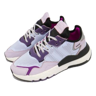 adidas 休閒鞋 Nite Jogger W 運動 女鞋 海外限定 愛迪達 舒適 簡約 反光 穿搭 藍 粉 EF5420
