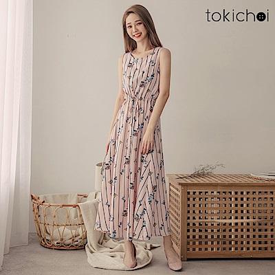 東京著衣 花漾氣質甜美無袖洋裝-S.M(共一色)