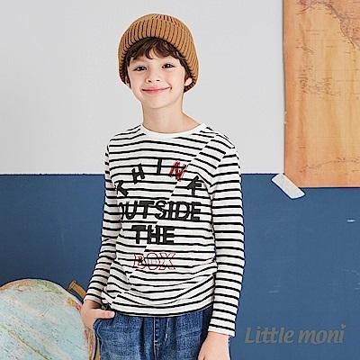 Little moni 條紋拼接上衣(兩色可選)