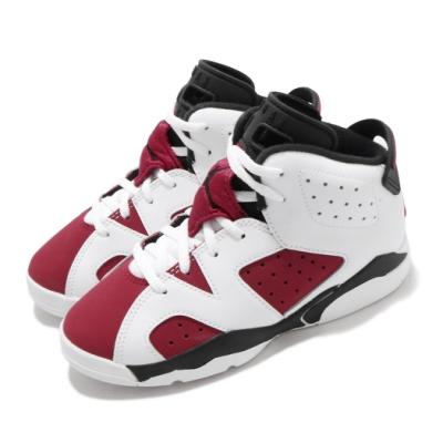 Nike 籃球鞋 Jordan 6 Retro 童鞋 經典款 喬丹六代 復刻 穿搭 中童 白 紅 384666106