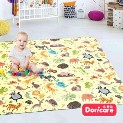 【Doricare朵樂比】超Q彈防護遊戲巧拼地墊60x60cm - 字母動物8入(附邊條)