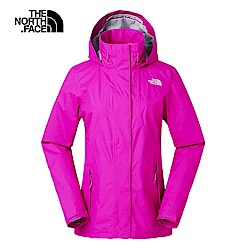The North Face北面女款粉色防風防水衝鋒衣|3VPR146