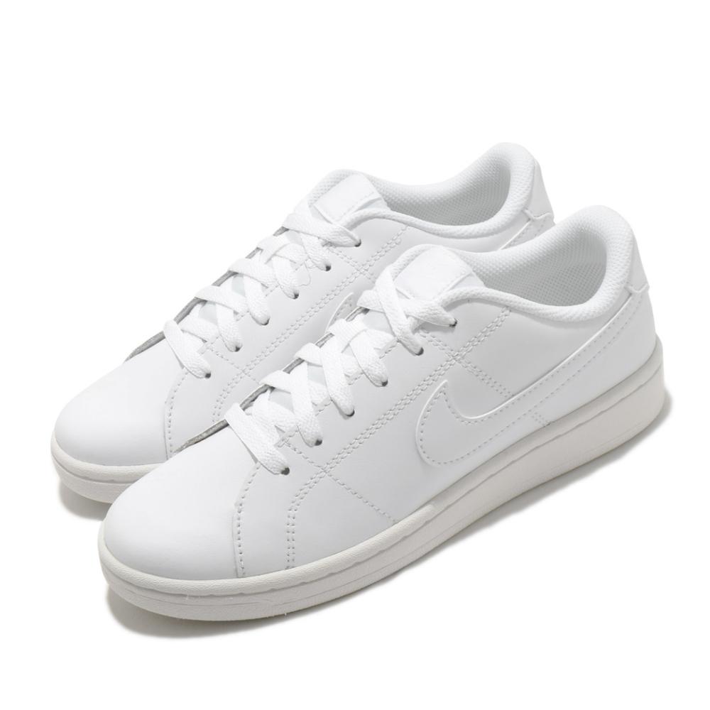 Nike 休閒鞋 Court Royale 2 運動 男女鞋 基本款 皮革 簡約 舒適 情侶穿搭 全白 CU9038100