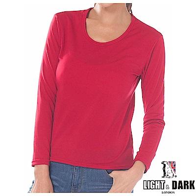 LIGHT & DARK 發熱速暖絨時尚女圓領衣(回饋3件組)