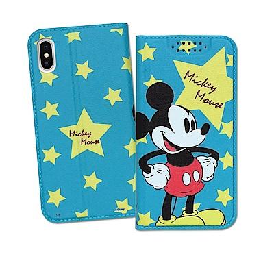 迪士尼授權正版 iPhone Xs / X 5.8吋 印花系列彩繪皮套(米奇)