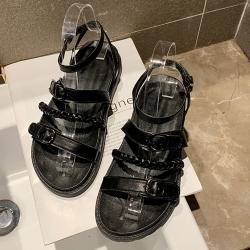 KEITH-WILL時尚鞋館 特惠款優雅女伶平底涼鞋 黑