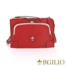 義大利BGilio- 復古牛皮口金包/手拿 側背包 - 紅色 1700.004-01