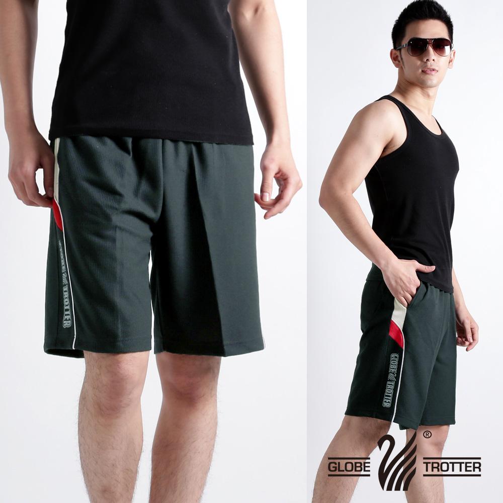 【遊遍天下】MIT男款超涼爽吸濕排汗運動短褲P123A灰色