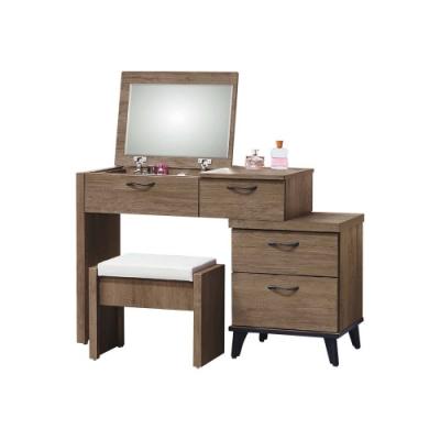 柏蒂家居-莫寧3尺掀式鏡台/化妝桌/梳妝台(贈化妝椅)-90x43x75cm
