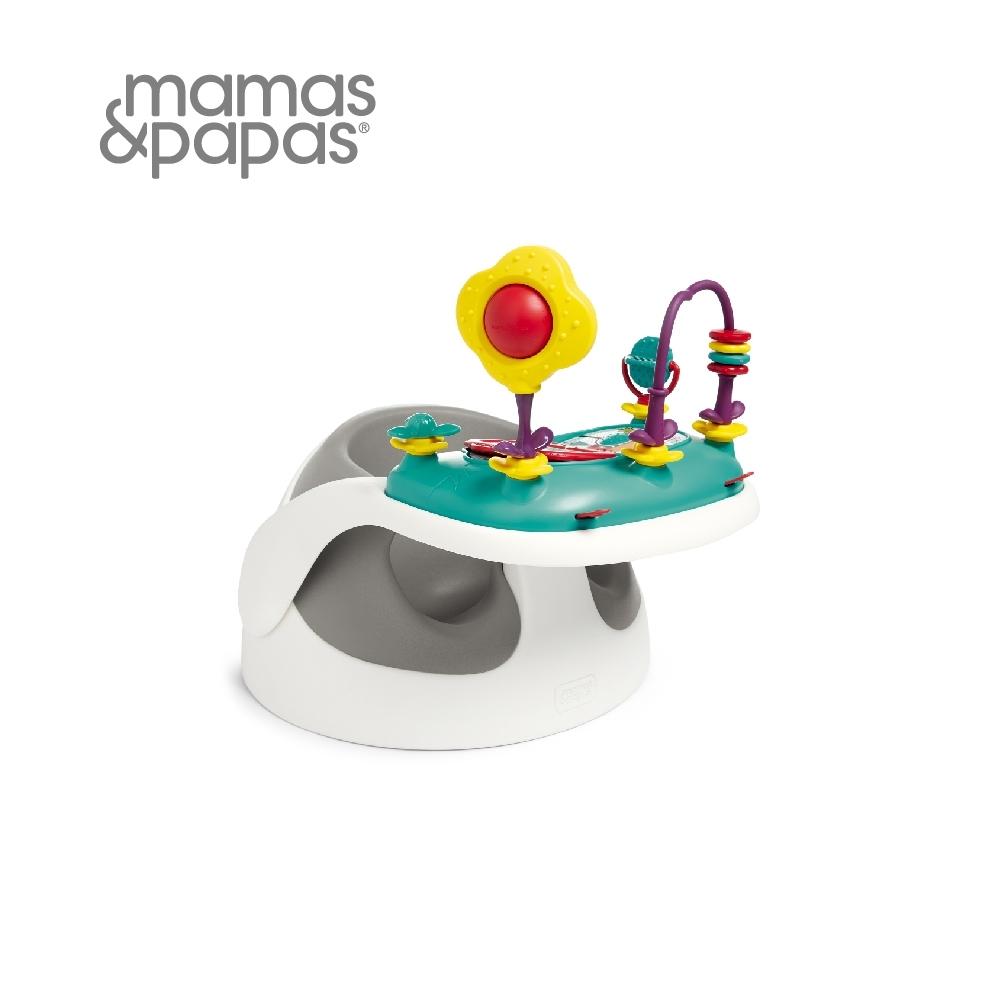 Mamas&Papas 二合一育成椅v2-霧都灰(附玩樂盤)