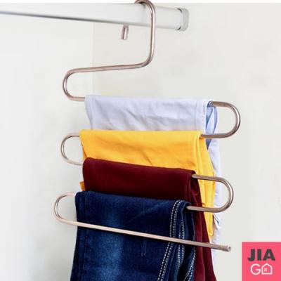JIAGO 耐重不鏽鋼五件式S型褲架(2入)
