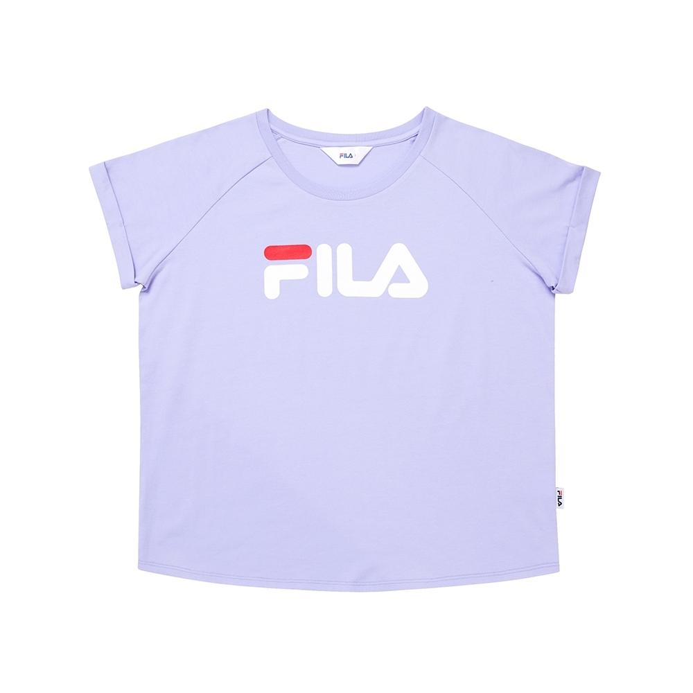FILA 圓領上衣-淺紫 5TEU-1505-VT