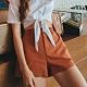 Shester55-簡約鬆緊腰短褲(三色)-女【XSH021】 product thumbnail 1