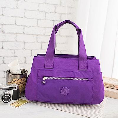 COUNT DUCK 美系悠活輕量手提側背多夾層2way包-CD-002-紫色