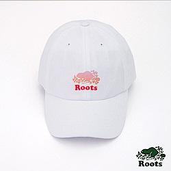 Roots配件- 漸層海狸棒球帽-白