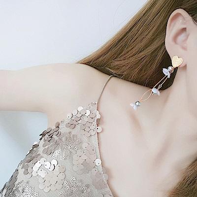 Hera赫拉 愛心珠花串珠耳環