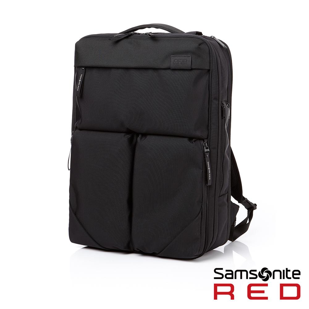 Samsonite RED PLANTPACK 防潑水三用筆電後背包L 15.6 (黑)
