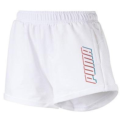 PUMA-女性基本系列Modern Sports短褲-白色-亞規