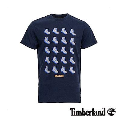 Timberland 男款深寶石藍色鞋靴圖案短袖T恤|A1YEX