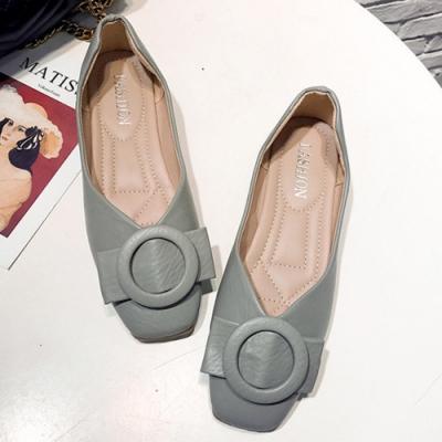 KEITH-WILL時尚鞋館 獨家秒殺百搭典雅方頭鞋-綠