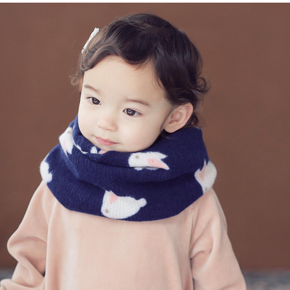 Happy Prince韓國製 Elvin小兔子保暖嬰兒童圍脖圍巾-多色