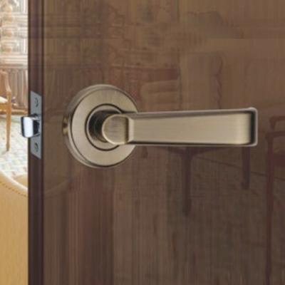 WACH 花旗門鎖 平直型 水平把手 古銅色 W4028-5(無鎖匙)下座 平頭型 水平鎖